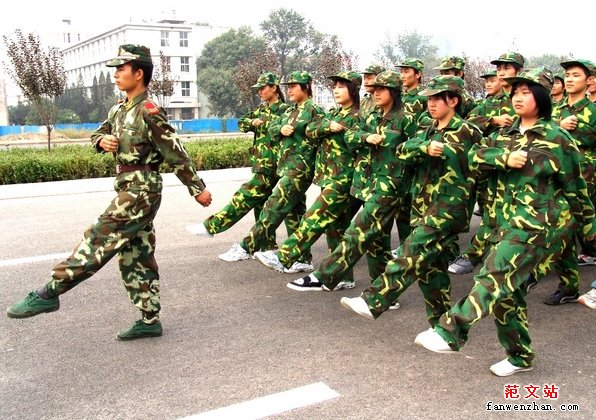 军训心得体会感悟团结就是力量